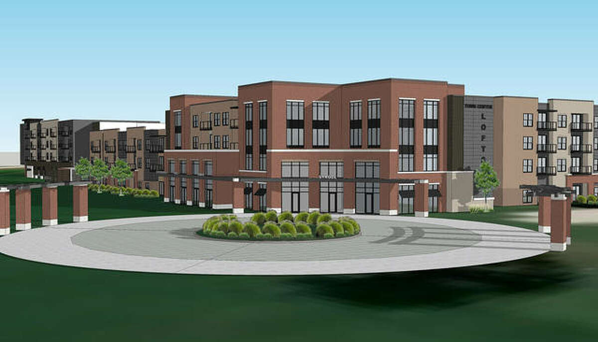 A rendering of some of the commercial tenant spaces coming to Trace on the Parkway.