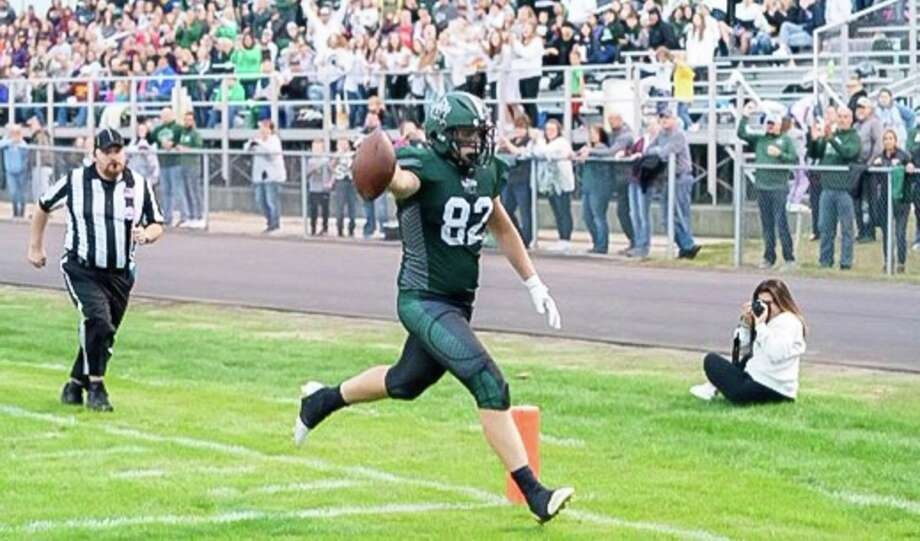 Laker tight end JT Warren has been named to the Michigan High School Football Coaches Association 2019-2020 East All-Star Team. Warren has committed to Davenport University, where he plans to continue his football career. (Huron Daily Tribune, File)