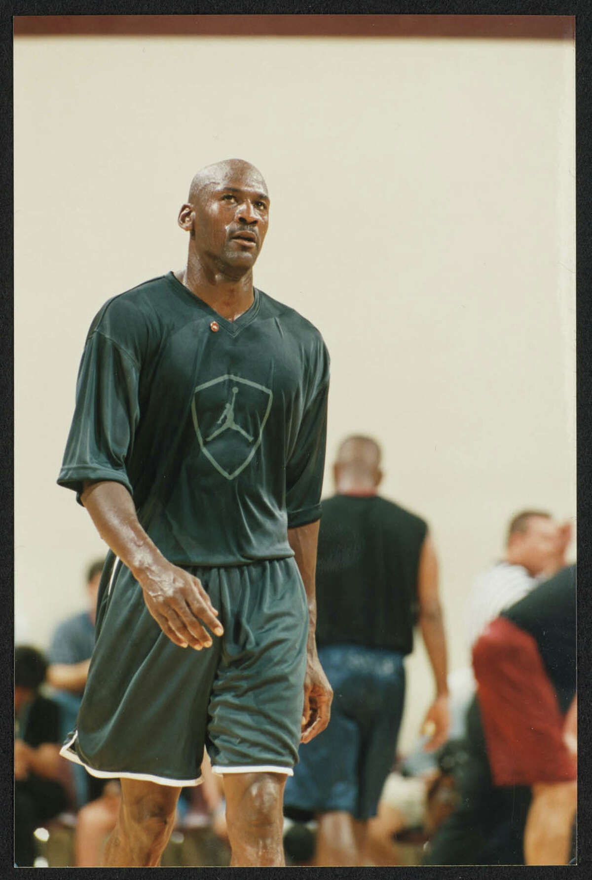 Texas State University dug into the school's archives to share 22-year-old photos showing Jordan playing at Strahan Coliseum for a charity event. The university shared a few more photos with mySA in addition to those shots that were tweeted over the weekend.The photos show a then 35-year-old Jordan participating in the June 22 1998