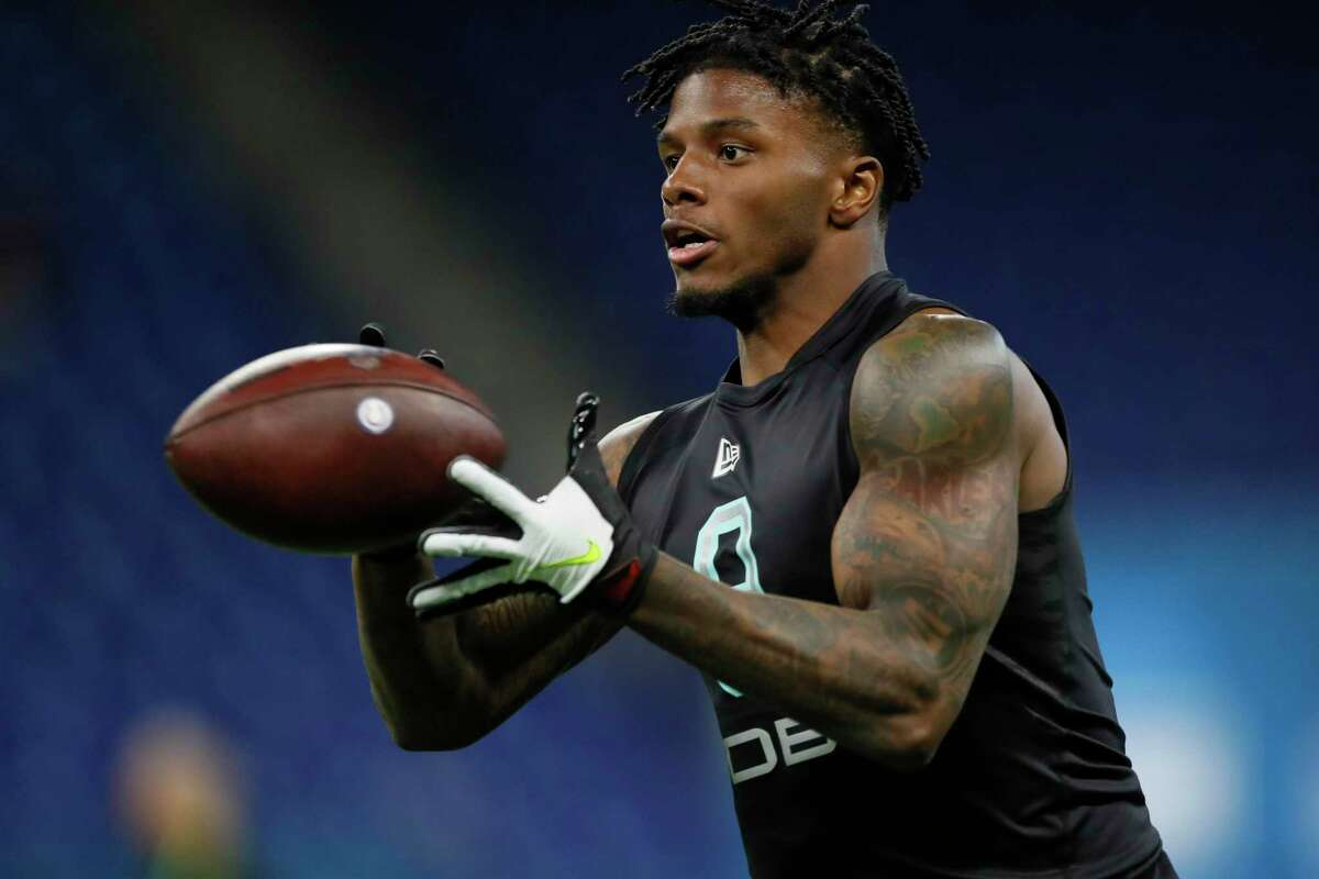 LSU defensive back Kristian Fulton, pictured at the NFL football scouting combine, could be a starter for Tennessee after the Titans picked him in the second round.