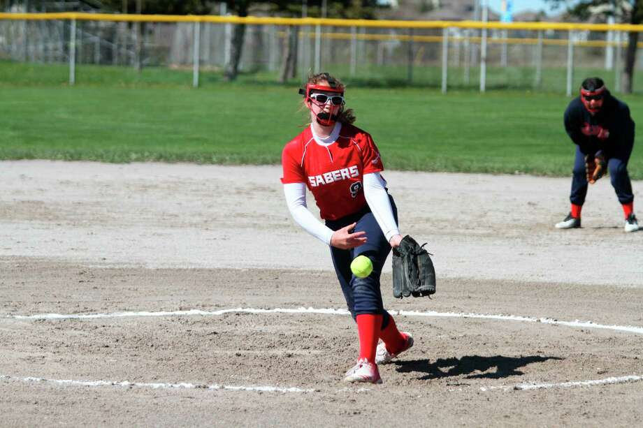 Kaylyn Johnson pitched for Manistee Catholic Central as an eighth-grader last season and was looking forward to continued improvement this year. (News Advocate file photo)