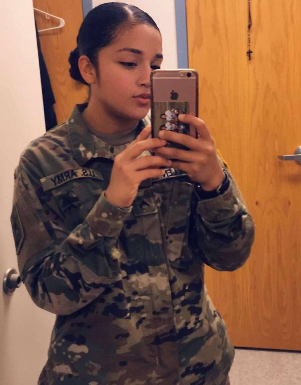 Family photo of Spc. Vanessa Guillen, who was last seen on April 22, 2020, in a parking lot at the Fort Hood Army base in Killeen, Texas.
