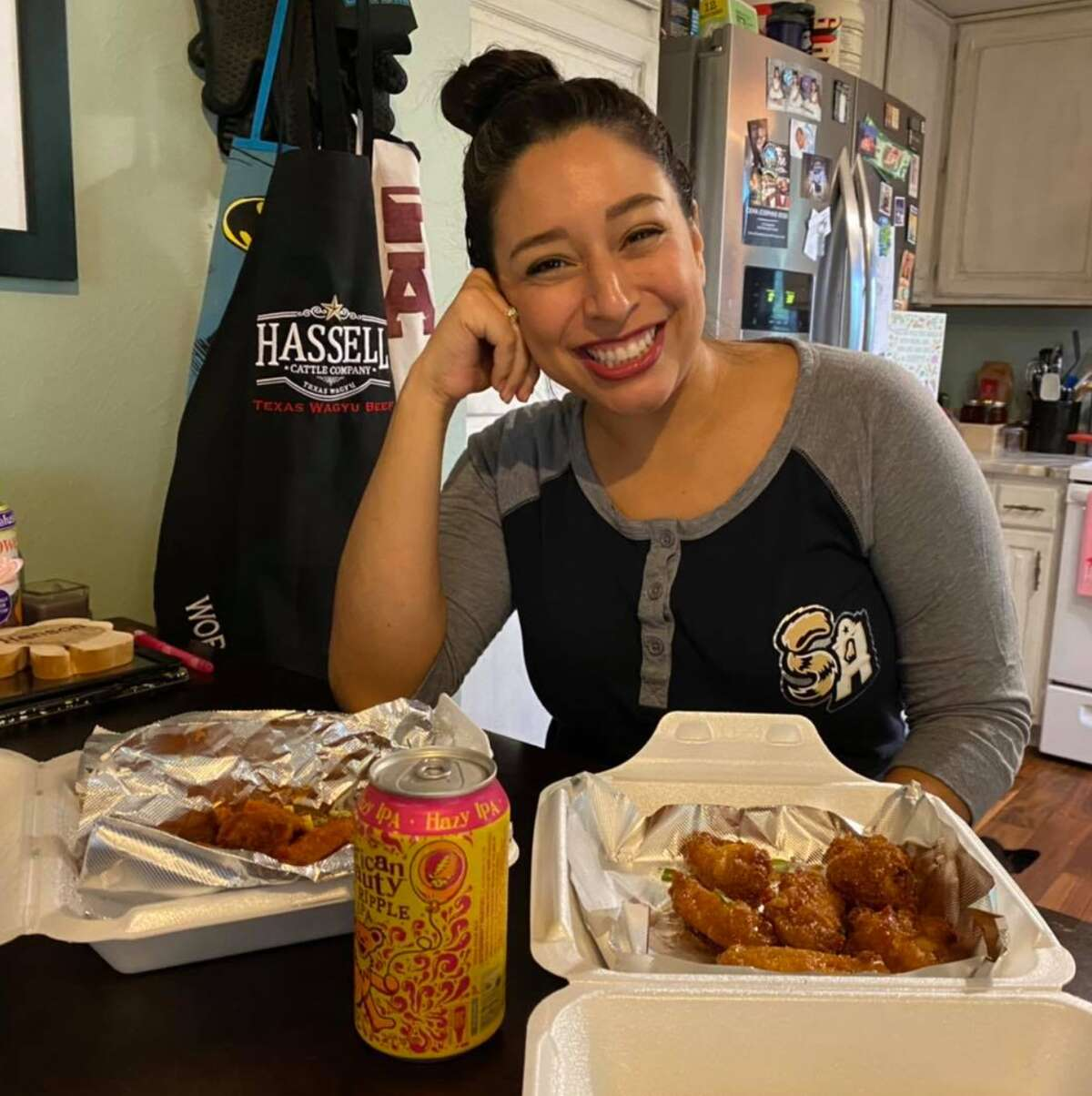 """""""San Antonio Living"""" co-host Denise CabelloHalftime PizzaMad Pecker BrewingCereal Killer Treats CMB Kettle Korn You also can't go wrong with Los Barrios, now in H-E-B too!"""