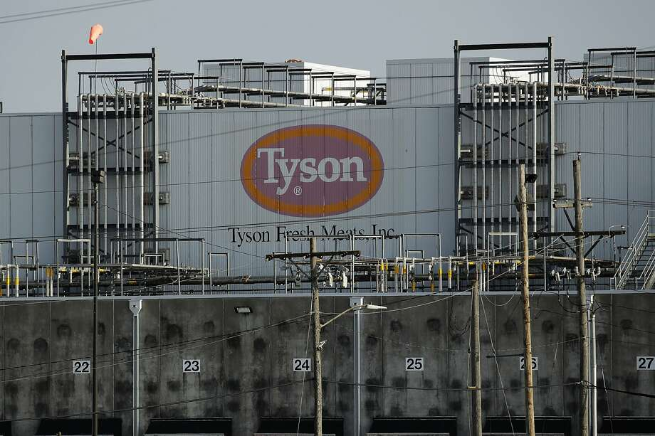 A Tyson Fresh Meats plant is seen Monday, April 27, 2020, in Emporia, Kan. President Donald Trump plans to order meat processing plants to stay open amid concerns over growing coronavirus cases and the impact on the nation's food supply. (AP Photo/Charlie Riedel) Photo: Charlie Riedel, Associated Press