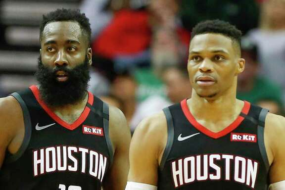 James Harden and Russell Westbrook remain mum on their commitment to the Rockets.
