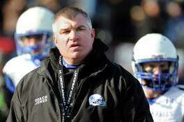Hoosick Falls' coach Ron Jones following their Class C state semifinal football game against Rye Neck on Saturday, Nov. 23, 2013, at Dietz Stadium in Kingston, N.Y. (Cindy Schultz / Times Union)