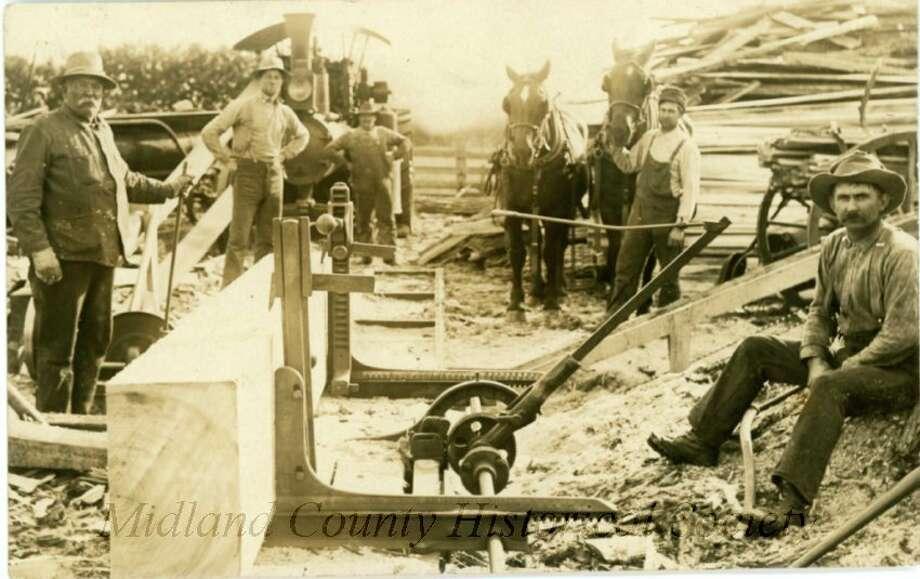 Joseph Morrison's Mill c 1900. (Midland County Historical Society)