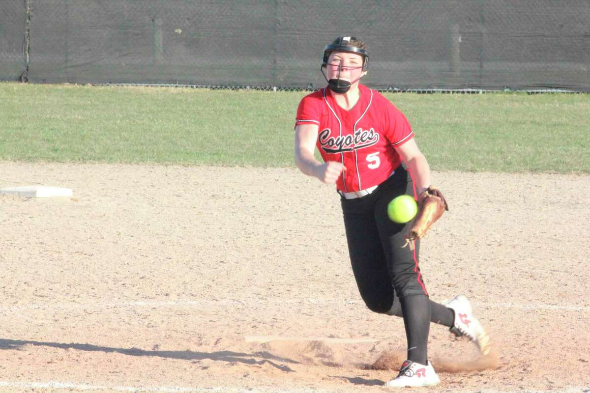 Reed City's Maddie Morgan hopes to have a chance to pitch in the LAT League this season. (Herald Review file photo)