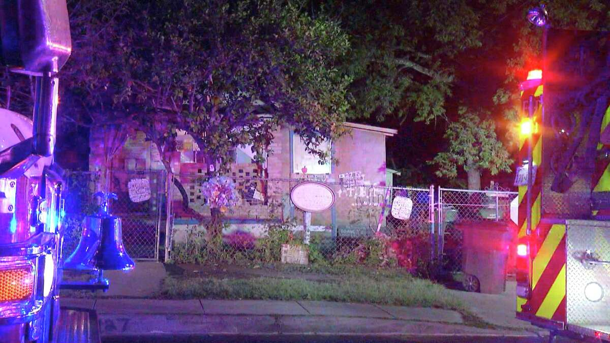 San Antonio firefighters were called to the 100 block of F Street just before 4 a.m. Wednesday April 29, for the structure in the back of the resident's property. When crews arrived, the structure was completely engulfed in flames but firefighters were able to knock it down in about 10 minutes.