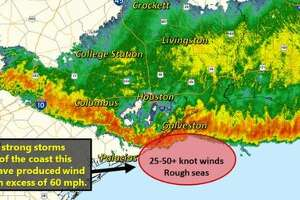 Houston-area thunderstorm kills 1 in Huntsville, forces delays at COVID-19 testing sites - Photo