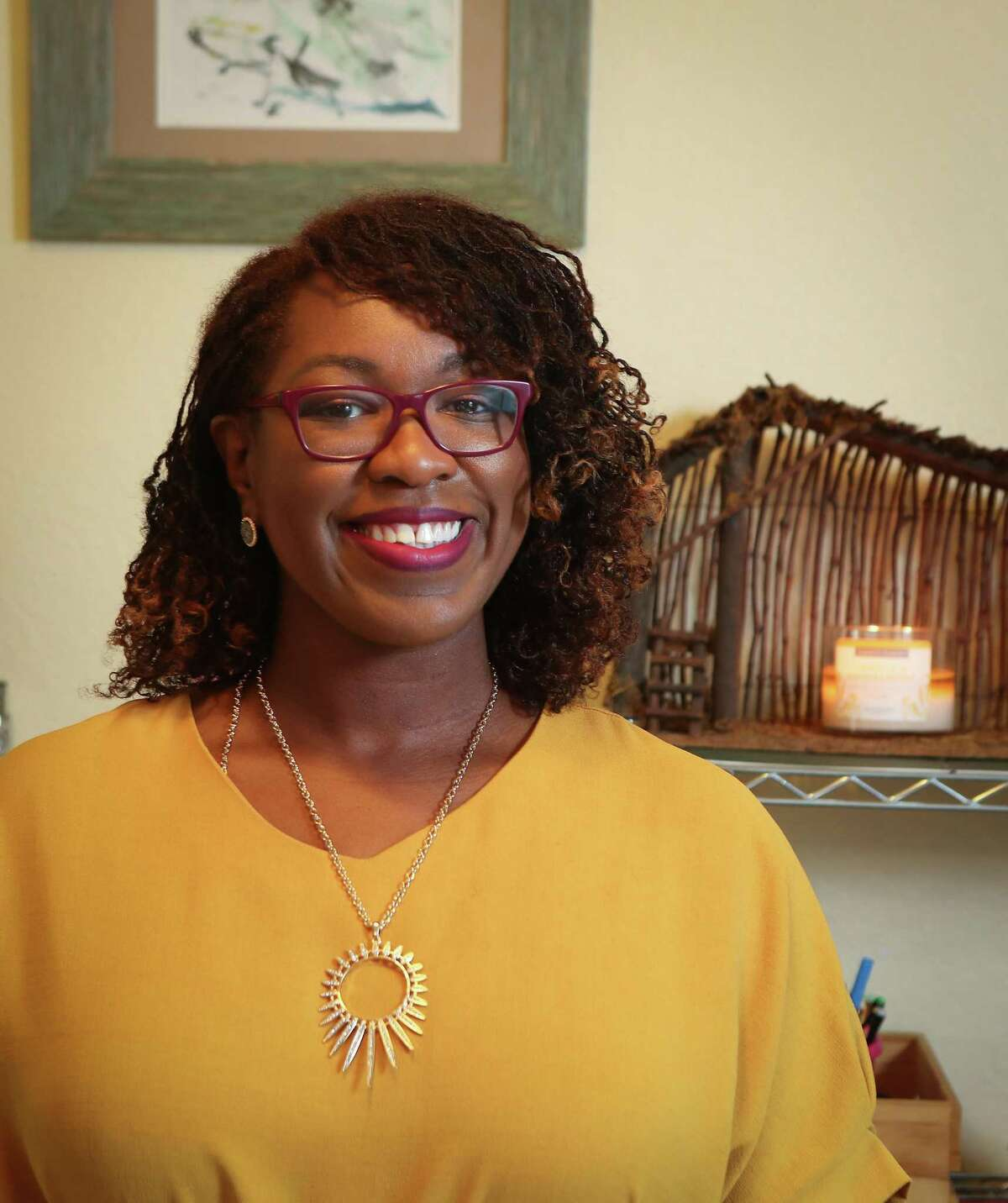 Dr. Kim Baker, assistant professor at UTHealth School of Public Health and Own Every Piece Campaign Director Friday, April 24, 2020, in Houston.