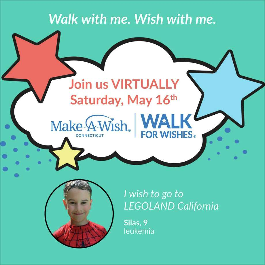 Make-A-Wish® Connecticut is holding a Virtual Walk for Wishes® fundraiser Saturday, May 16, at 10 a.m., via Facebook. Photo: Contributed Photo