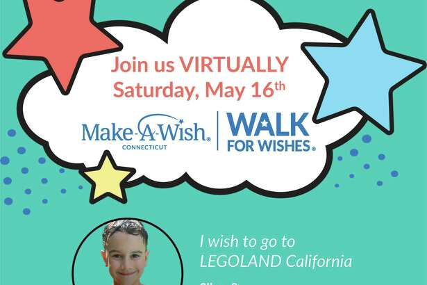 Make-A-Wish® Connecticut is holding a Virtual Walk for Wishes® fundraiser Saturday, May 16, at 10 a.m., via Facebook.