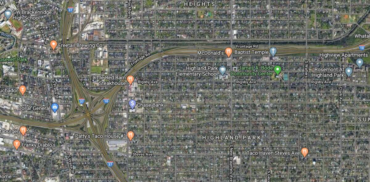 A 29-year-old Uber driver told police she picked up two males in their late teens near MLK Drive and Walters Street just before 11 p.m. As she drive onto Interstate 10, someone from a light colored, mid-sized vehicle began shooting at her car, police said.The map shows the area in which the incident occurred.