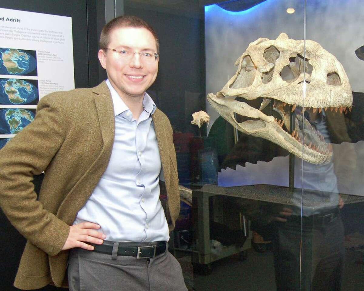 The Bruce Museum's curator of science, Daniel Ksepka,