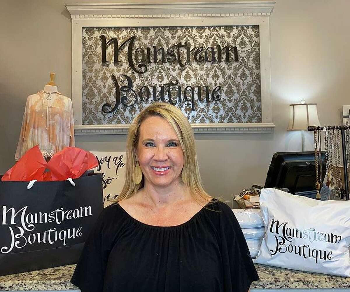 Mainstream Boutique, a franchise chain of individually owned retail stores, has found an online niche since the COVID-19 shutdown went into effect. Tracy Gottfried, owner of the boutique's Pearland store, posts videos on the store's Facebook page while taking viewers on a virtual shopping excursion through the inventory.