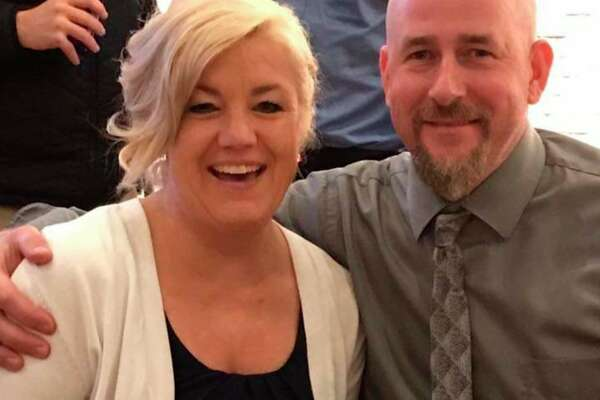 Nate Miller has owned Manistee Tire Service for 14 years. He is pictured with is wife Lori. (Courtesy photo)