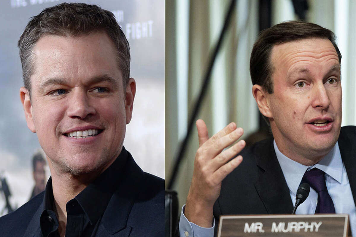 Matt Damon as U.S. Senator Chris Murphy As seen in: 'The Departed,' 'Good Will Hunting,' 'The Bourne trilogy'