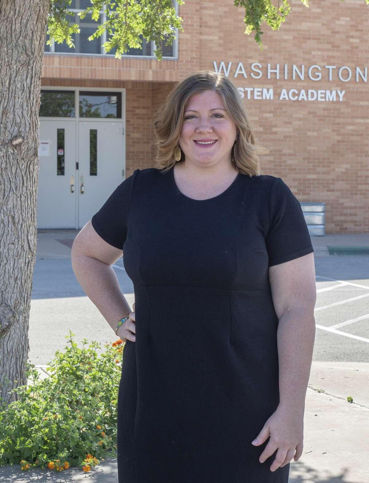 Kimberly Livingston, first grade teacher at Washington Stem Academy. 04/29/2020 Tim Fischer/Reporter-Telegram