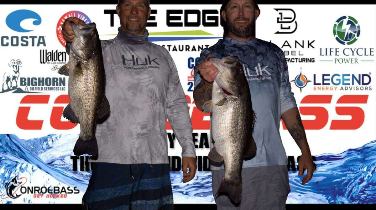 Dan Pinnell and Michael Haworth came in third place in the CONROEBASS Tuesday tournament with a stringer weight of 12.29 pounds.
