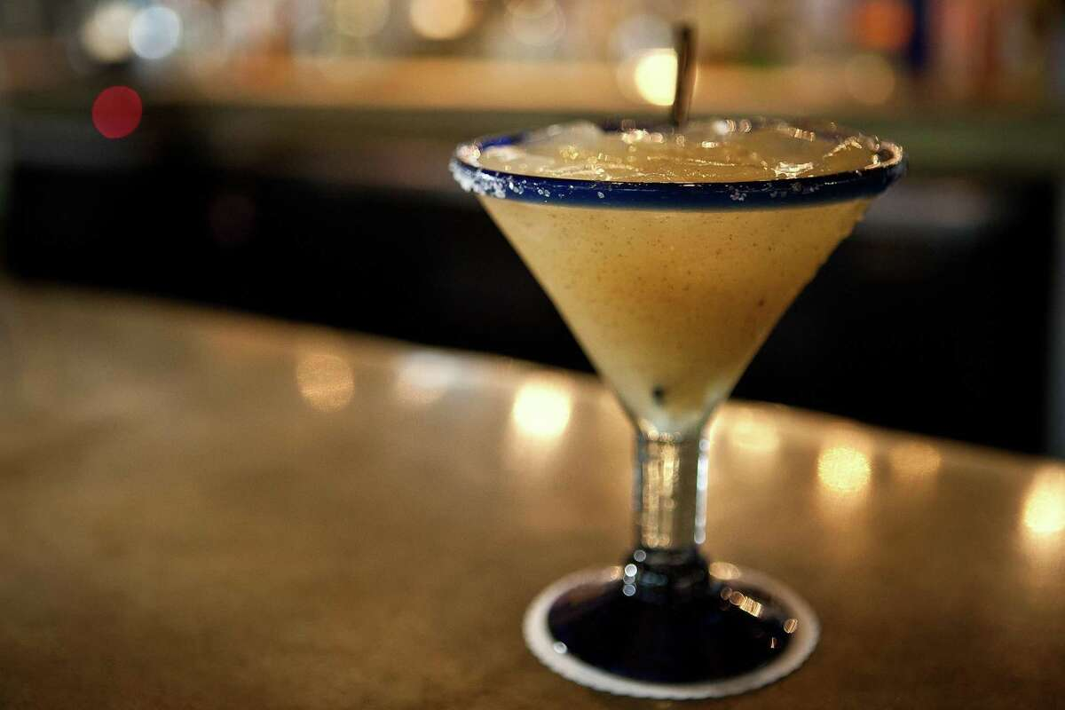 Hugo Ortega's pineapple margarita can be served with or without the salt rim.