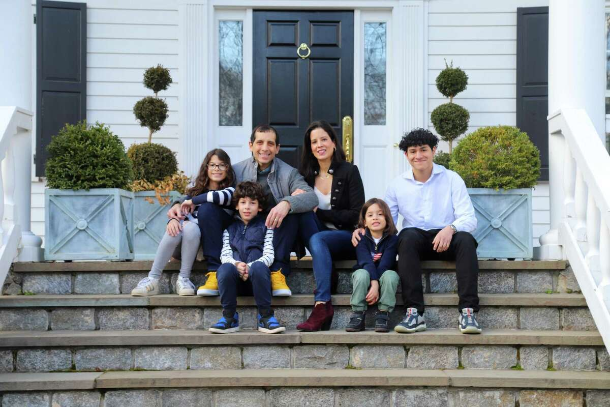 A Front Steps Project portrait of the Chimera family of New Canaan is recently photographed. With there being someday when the coronavirus pandemic will be over, families like the Chimeras are currently obtaining something to remember their time together during the pandemic.