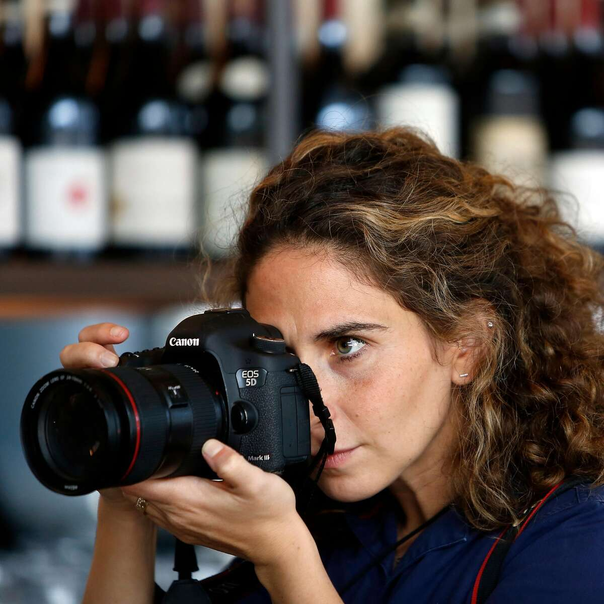 San Francisco Chronicle staff photographer Gabrielle Lurie photographs at the Corridor Restaurant on 100 Van Ness Ave for a story about how businesses are impacted by corporate cafeterias on Tuesday, July 24, 2018 in San Francisco, Calif.