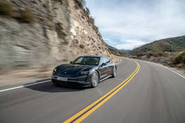 The new 2020 Porsche Taycan 4S joins the Taycan Turbo and Turbo S at dealerships in preparation for customer deliveries.