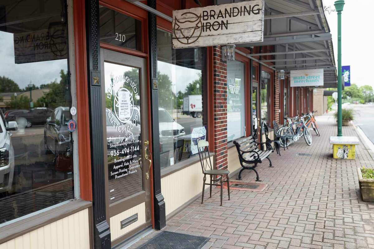 202 Main Event Center and other nearby businesses prepare to open for on-site sales in Conroe, Wednesday, April 29, 2020. Gov. Greg Abbott announced an executive order to allow all retail business to open at 25 percent capacity beginning Friday, May 1, 2020.