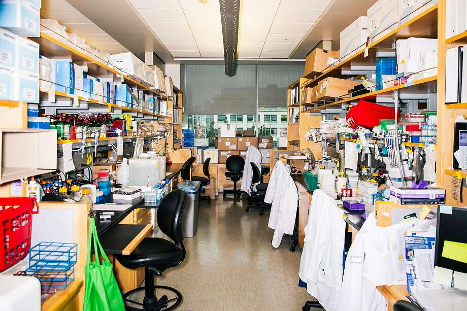 An interior view of the Krogan Lab led by Dr. Nevan Krogan, director of Quantitative Biosciences Institute (QBI) and professor of cellular molecular pharmacology at the University of California, San Francisco and part of QBI's Coronavirus Research Group, is seen in San Francisco, Calif. on Monday, March 30, 2020. Photo: Stephen Lam / Special To The Chronicle