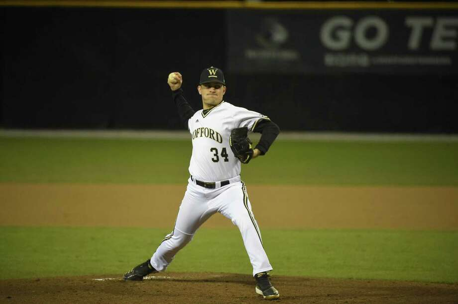 Former Warde standout Reece Maniscalco pitched 42.1 innings in relief with a 2.34 ERA in 2019 for Wofford. Photo: Wofford Athletics