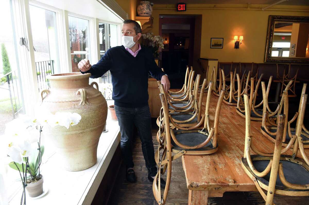 Viron Rondo is photographed at his restaurant, Viron Rondo Osteria, in Cheshire on April 29, 2020.