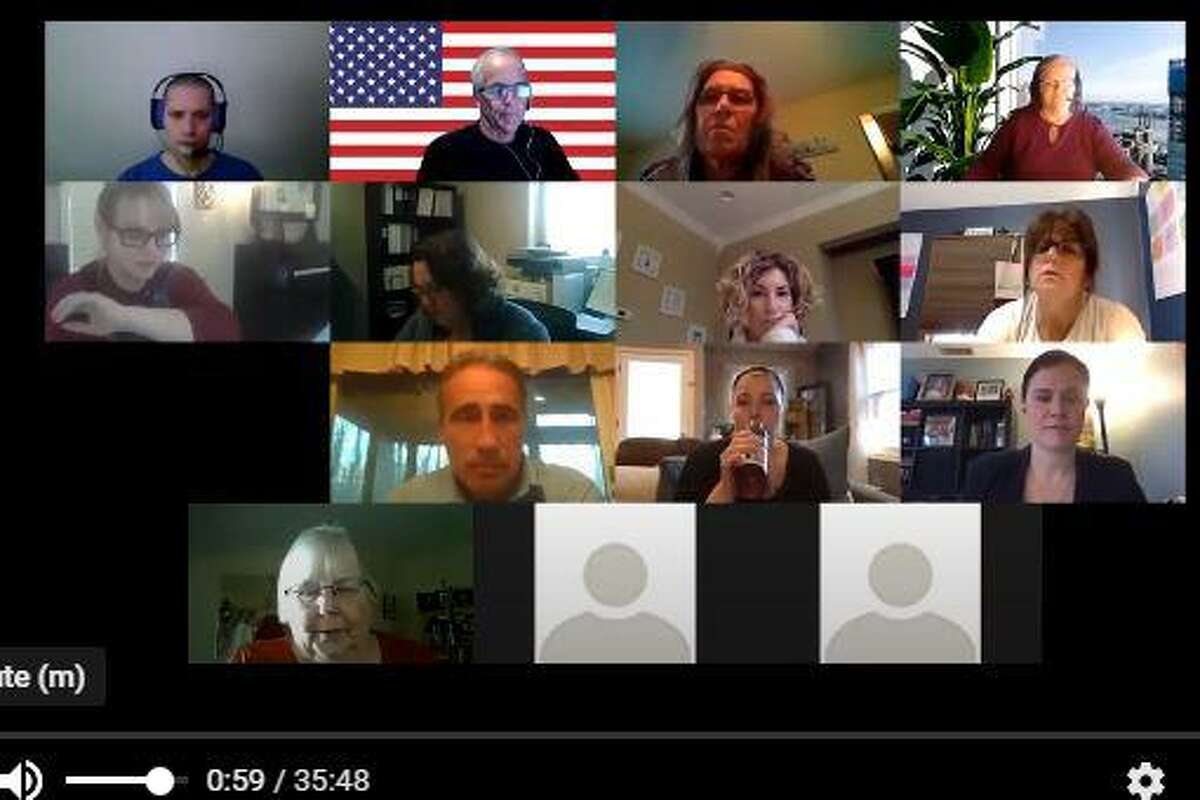 Screen capture of East Haven Board of Education virtual meeting on Zoom, Tuesday, April 28, 2020.