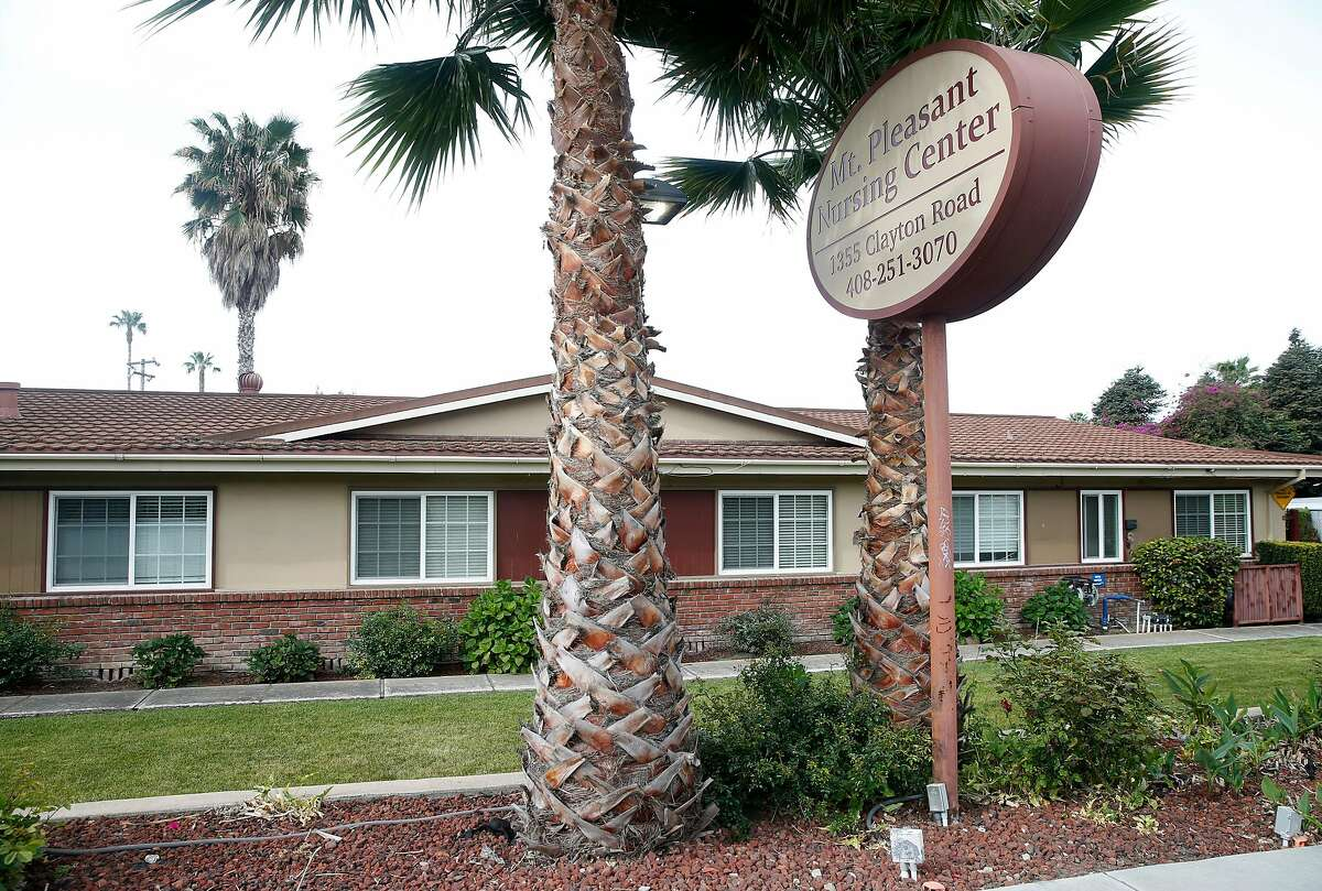 The Mount Pleasant Nursing Center is seen in San Jose, Calif. on Wednesday, April 29, 2020. Santa Clara County officials have determined that asymptomatic employees unknowingly passed on the COVID-19 coronavirus to residents and other workers at the facility.