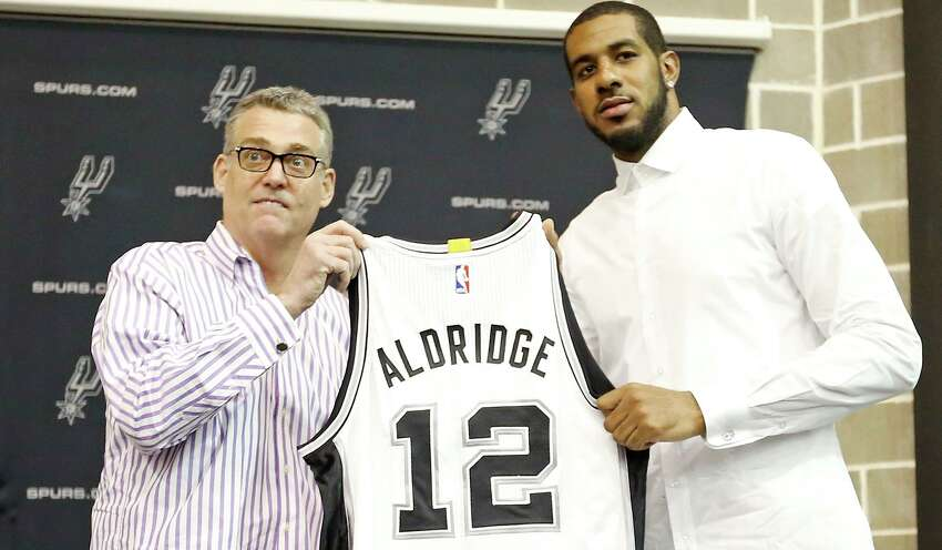 9. Spurs sign LaMarcus Aldridge Despite their status as a perennial winner, the Spurs have never been a prime free agent destination.That all changed in 2015, when the biggest name on the market chose San Antonio. READ MORE:The LaMarcus Aldridge signing