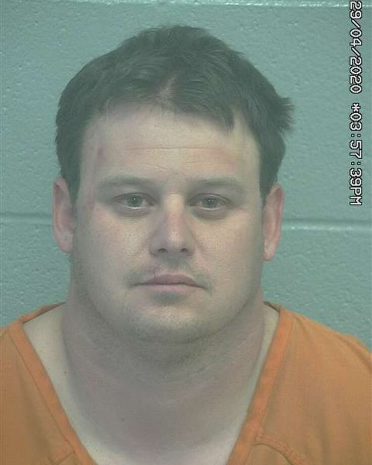 Chance Rainer, a Midland Police Department officer, was arrested April 29 for driving while intoxicated and abandoning or endangering child. He was previously arrested on April 13, 2020, on a charge of public intoxication. Photo: Midland County Sheriff's Department