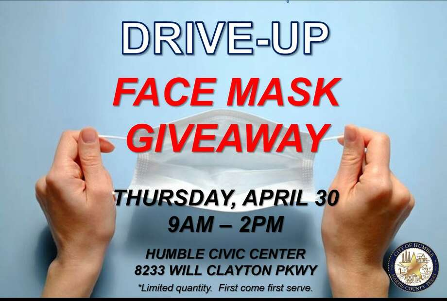 The City of Humble is providing a mask giveaway on April 28. City of Houston District E is also providing a mask giveaway on April 28. Photo: City Of Humble