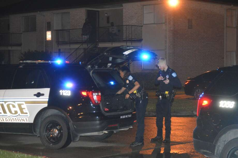 Beaumont police investigate a homicide at Starcrest Apartments on Elmira Street Wednesday, April 29, 2020.
