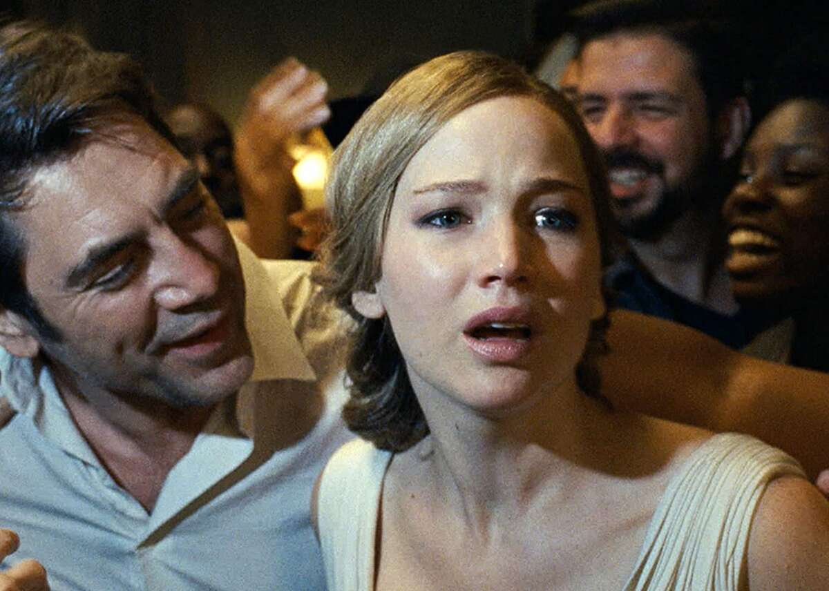 """#99. Mother! (2017) - Director: Darren Aronofsky- Metascore: 75- IMDb user rating: 6.6- Runtime: 121 min The cacophonous parable """"Mother!"""" uses archetypal themes and biblical stories to tell the story of a pregnant woman, played by Jennifer Lawrence, who lives in a lush farmhouse that's increasingly violated by unhinged people and mobs. Javier Bardem plays her spouse, a brooding, narcissistic poet. Darren Aronofsky infuses the film's violence with a strange grandeur rippling with symbolism. This slideshow was first published on Stacker"""