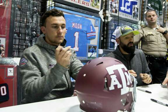 Johnny Manziel, who ran afoul of the NCAA for signing items to be sold, was still a hot autograph even after leaving A&M. The NCAA is proposing a rule change to allow athletes to profit from their image.