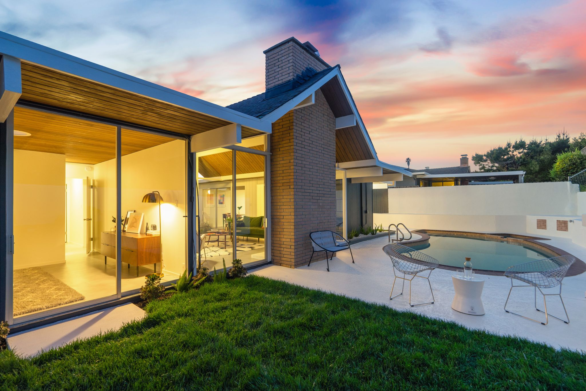 Step out to the yard, patio and pool.