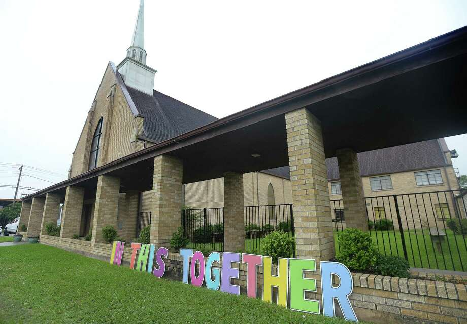 A colorful message of solidarity sits outside First United Methodist Church in Vidor. Photo taken Monday, April 6, 2020 Kim Brent/The Enterprise Photo: Kim Brent / The Enterprise / BEN