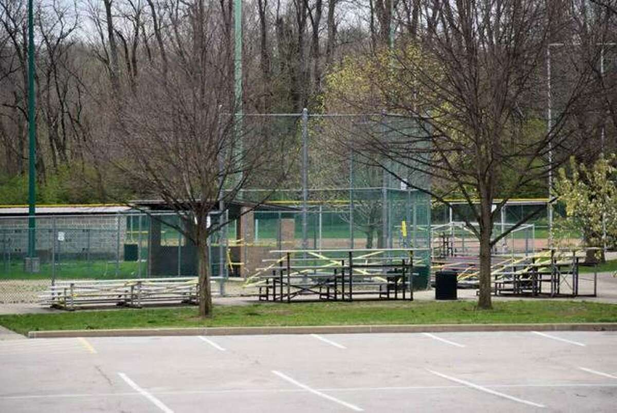 Hoppe Park sits empty on a Sunday afternoon in Edwardsville.