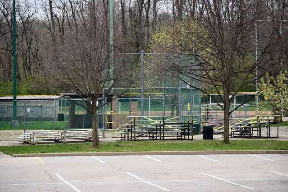 Hoppe Park sits empty on a Sunday afternoon in Edwardsville. Photo: Matt Kamp|The Intelligencer