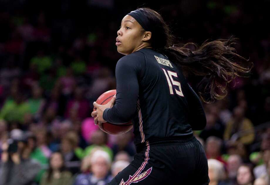 Florida State's Kiah Gillespie looks to pass the ball during a game against Notre Dame on Feb. 10, 2019. Photo: Robert Franklin / Associated Press / Copyright 2019 The Associated Press. All rights reserved.