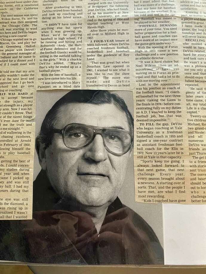 Stamford native Vito DeVito, who spent the better part of four decades as a teacher, coach and athletic administrator in the Milford school system and Yale University, died early Saturday morning at age 94. Photo: Contributed Photo