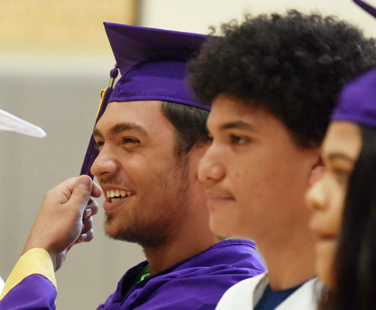 Photos from the Summer High School Graduation Ceremony at Stamford High School in Stamford, Conn. Wednesday, July 31, 2019. 27 summer graduates from Stamford and Westhill High Schools received their diplomas in a spirited ceremony featuring remarks from Stamford Superintendent of Schools Dr. Tamu Lucero, Summer School Head Teacher Joseph Cozza and Counselor Robert Augustyn.