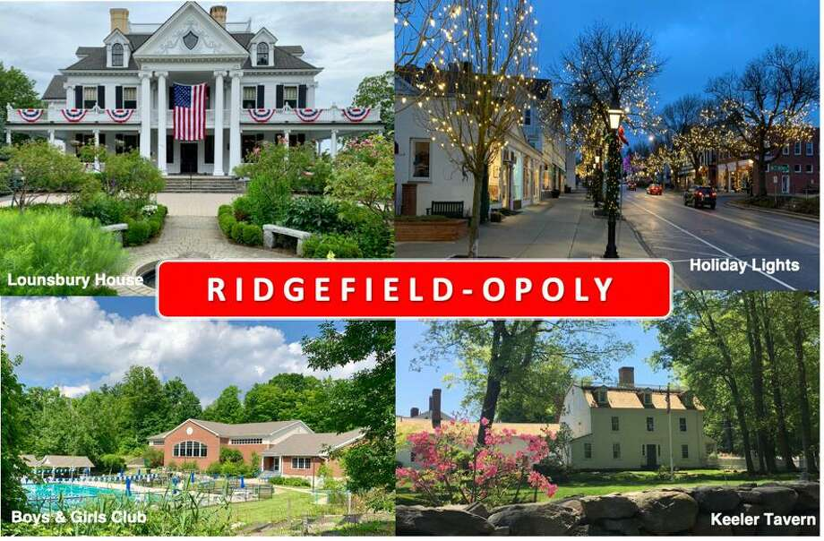 Local sights are part of the RIdgefieldopoly game being sold by The Rotary to raise funds for local charities. Photo: Contributed Photo