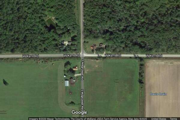 A screenshot shows the intersection of West Kent and South Magruder roads in Jasper Township.