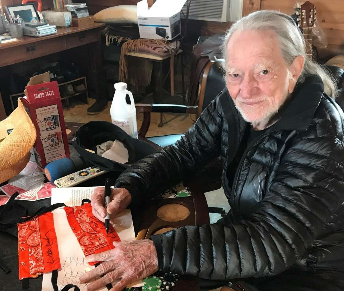 Texan music legend Willie Nelson stepped up to lend a helping hand to a Houston-based volunteer group making face masks to help protect healthcare workers from the coronavirus.